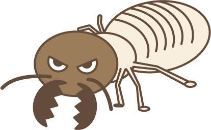 害虫イメージのシロアリ